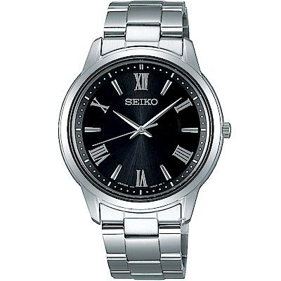 SEIKO精工SPIRIT簡單美學太陽能腕錶(V131-0AG0D)-38mm/黑