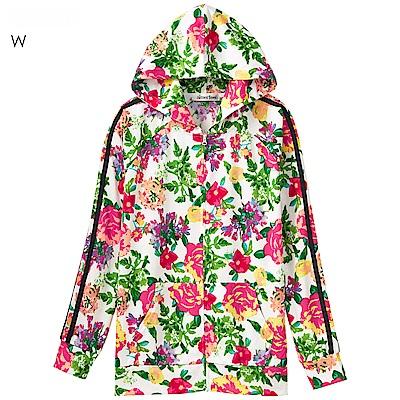 aimerfeel 七彩花卉防曬抗UV連帽外套-白色