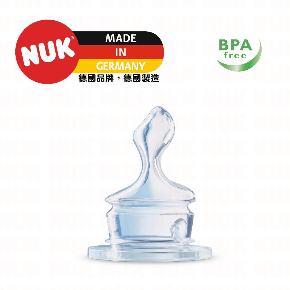 NUK 一般口徑矽膠奶嘴-大圓洞(1個/盒)