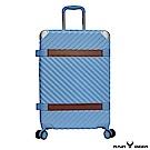RAIN DEER 賽維亞24吋PC+ABS亮面行李箱-湖水藍