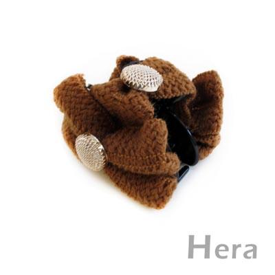 【Hera】編織浪漫 蝴蝶結造型髮夾/抓夾(三色-咖啡色)