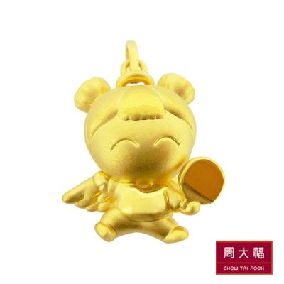 周大福 福星寶寶系列 平安寶寶桌球純金墜飾