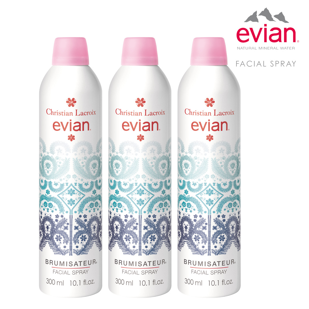 Evian300mlx3 Evian Yahoo Facial Spray 300 Ml 300ml