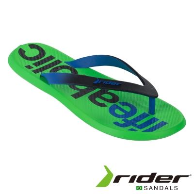 Rider 巴西 男 ENERGY V AD 時尚機能夾腳拖 (黑綠)