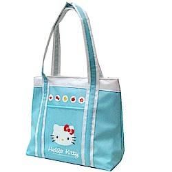 Hello Kitty 凱蒂貓 保溫防水手提萬用餐袋(湖水藍)