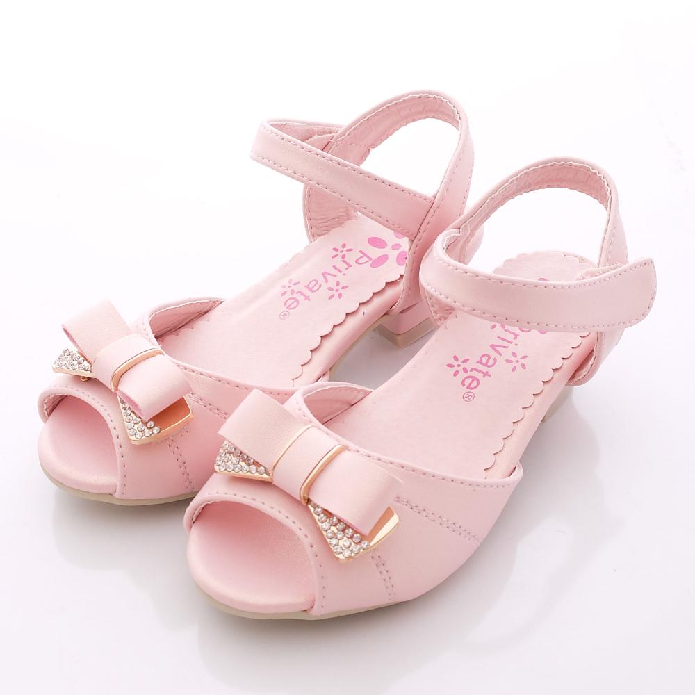 日本娃娃-閃鑽魚口涼鞋款-SI639粉紅(中小童段)HN