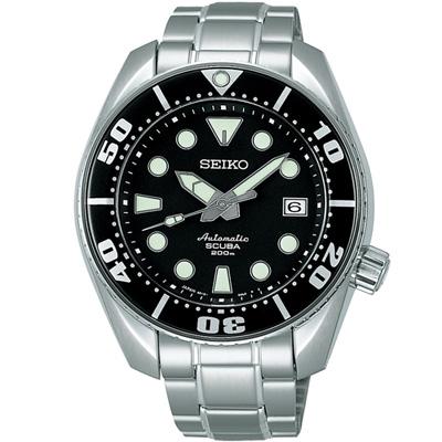 SEIKO PROSPEX 200米專業潛水運動錶(SBDC001J)-黑/45mm