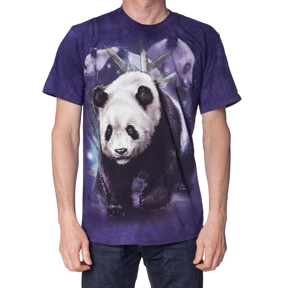 摩達客-美國進口The Mountain熊貓群 純棉環保短袖T恤