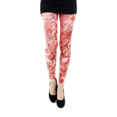 摩達客-英國進口Pamela Mann紅薔薇 內搭褲九分褲襪