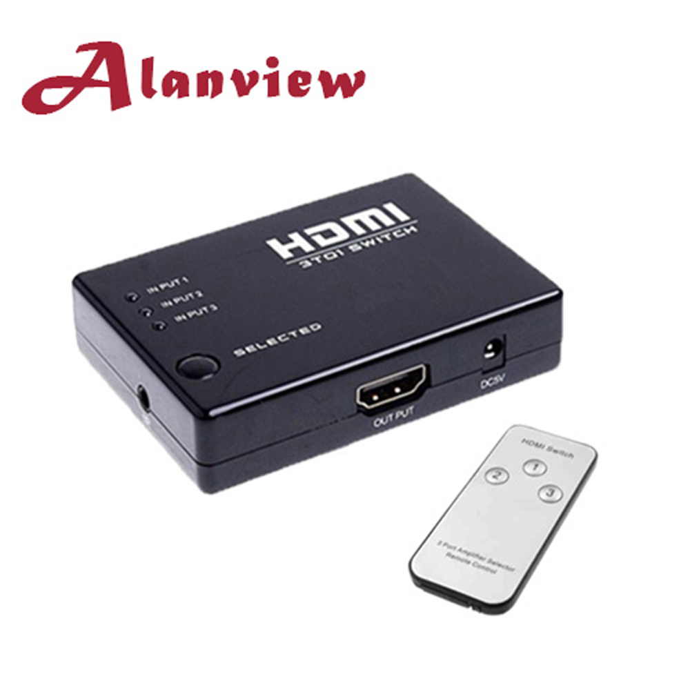 Alanview HDMI 三進一出切換器(附遙控器)