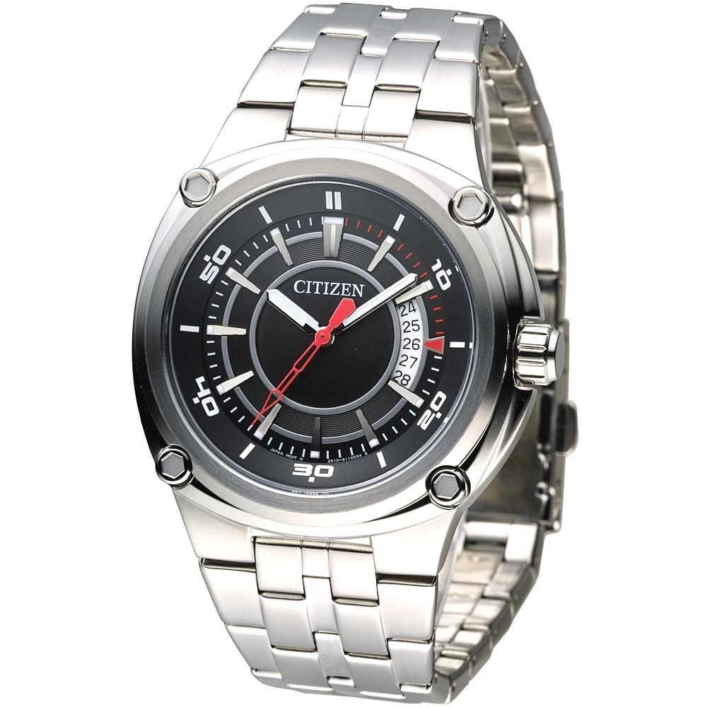 CITIZEN星辰手錶 OXY 黎明之眼時尚風格男錶-黑(BK2530-50E)/42mm 保固二年