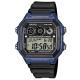 CASIO 10年電力亮眼設計方形數位錶(AE-1300WH-2A)-藍框x黑錶圈/42mm product thumbnail 1