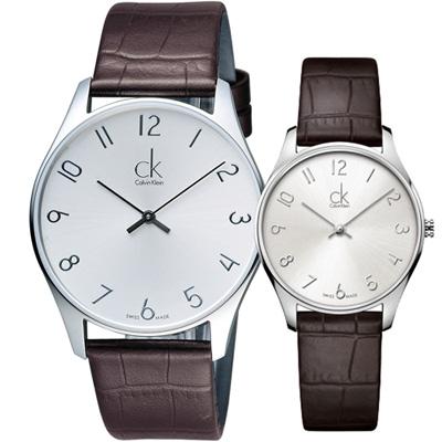 Calvin Klein  珍愛時尚對錶(K4D211G6 K4D221G6)咖啡