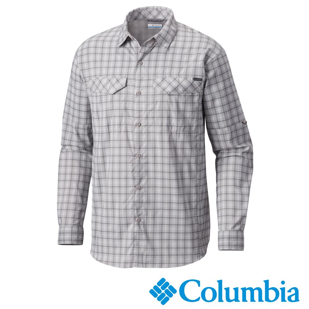 Columbia哥倫比亞 男款-防曬40快排長袖襯衫-灰色 UAE12820GY