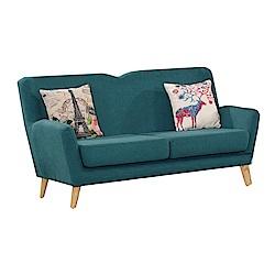 品家居 比其爾棉麻布實木沙發雙人座-166x80x90cm-免組