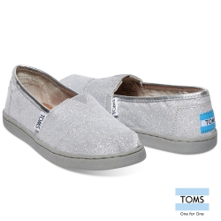TOMS 經典亮粉懶人鞋-孩童款