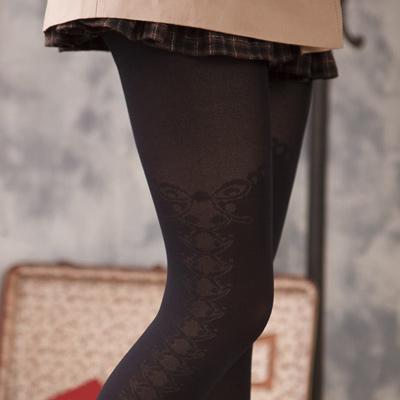 蒂巴蕾ART 膝上型彈性絲襪-蝶翼