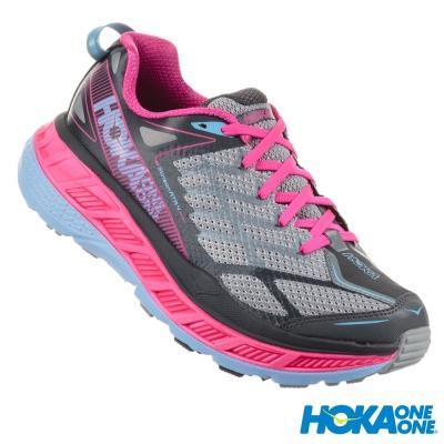 HOKA ONE ONE 全地形鞋 Stinson ATR 4 女 灰/粉紅