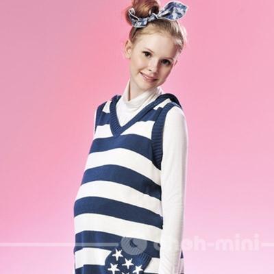 ohoh-mini孕婦裝-薄軟透氣抓皺高領內搭上衣-六色