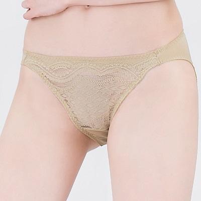 思薇爾 星願秘密系列M-XL蕾絲低腰三角內褲(自然綠)