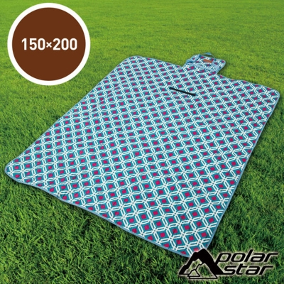 PolarStar 多功能防潮野餐墊睡墊/可機洗150x200cm『粉藍菱格』P17709