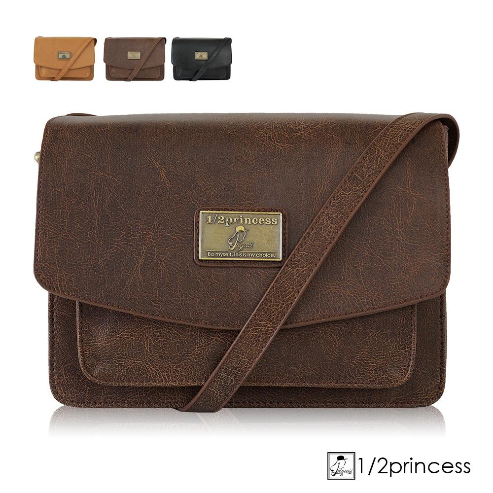 1/2princess肩背包二代復古皮革經典硬殼英倫包- 咖啡[A2751](快)