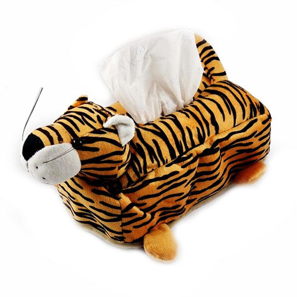 老虎玩偶絨毛面紙套 (超值3入)