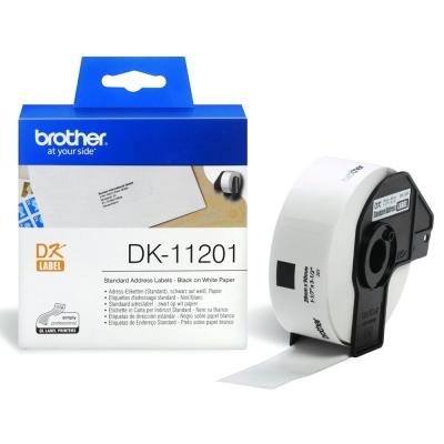 Brother DK-11201 定型標籤帶 ( 29x90mm 白底黑字 ) 耐久型紙質
