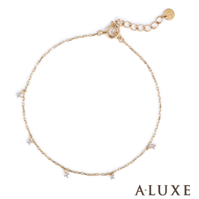 A-LUXE 亞立詩 Shine10K金 滿天星鑽石手鍊