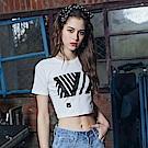 DADA SUPREME 完美曲線貼身短袖上衣-女-白色