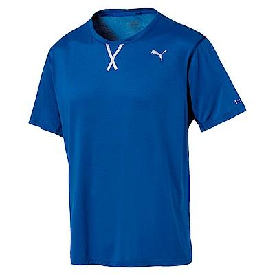 PUMA-男性慢跑系列OceanRun短袖T恤-黑海藍-歐規