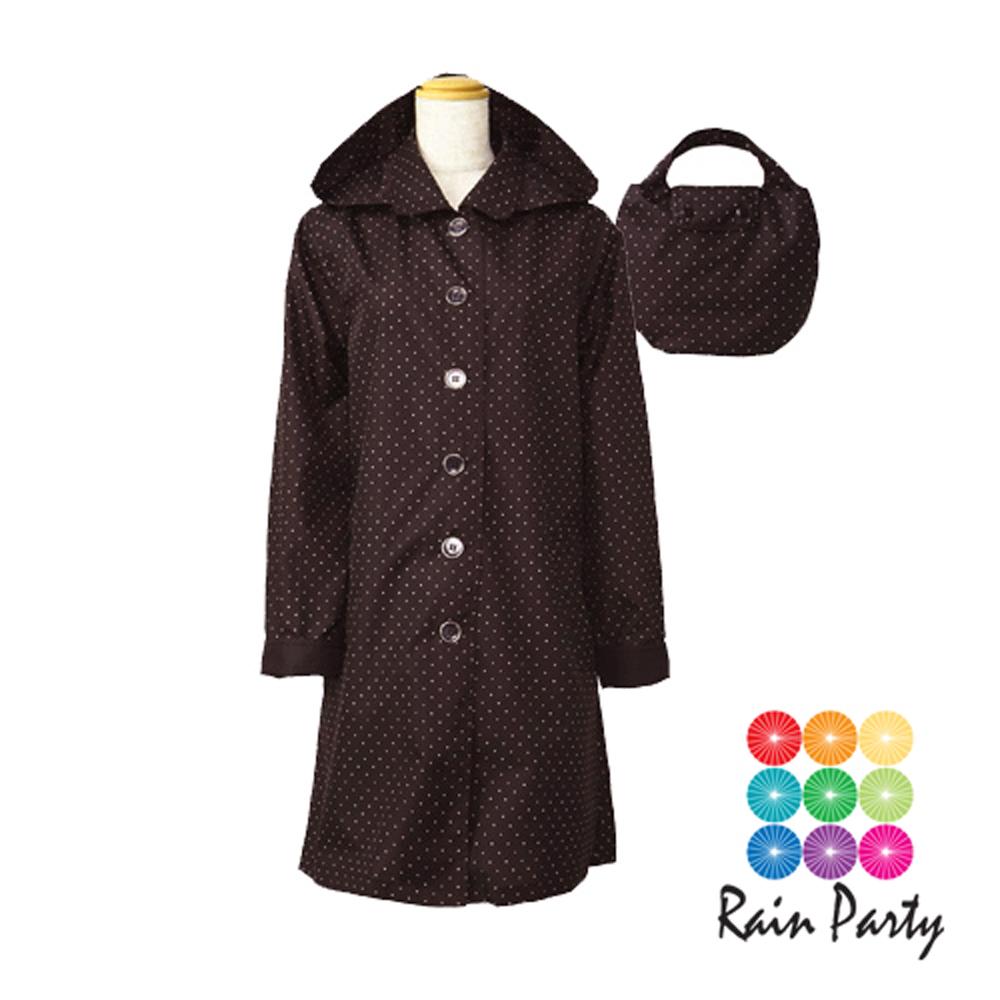 【RainParty】日本 『娃娃裝』 雨/風衣系列   時尚點點_咖啡