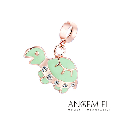Angemiel安婕米串珠 925純銀吊飾 Dream童話系列 小烏龜