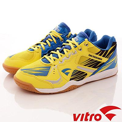 Vitro韓國專業運動品牌-BLAZEⅢ-頂級專業桌球鞋-黃藍(男)