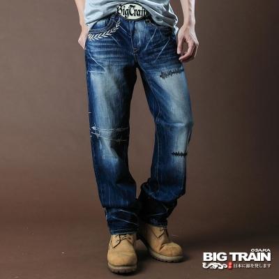 BIG TRAIN-鬥陣街頭垮褲-淺藍