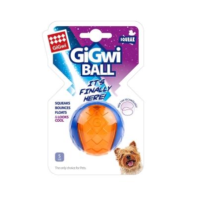GiGwi球就是經典- 玩具小啾球單顆(橘藍透色)