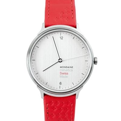 MONDAINE 瑞士國鐵 Swiss Edition 瑞士紅十字紀念錶-白x/38mm