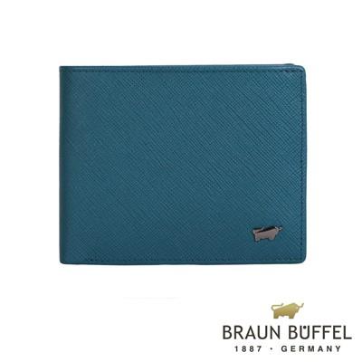 BRAUN BUFFEL - RUFINO-C洛非諾系列4卡零錢袋皮夾 - 蔚藍
