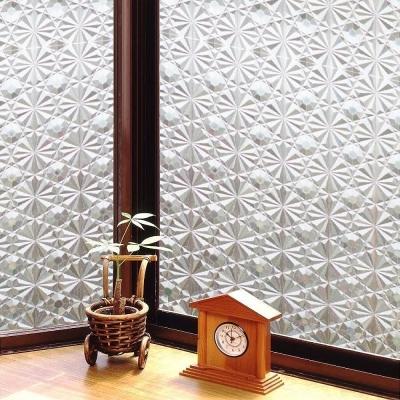★促銷★〔日本MEIWA〕抗UV靜電窗貼 (萬花齊放) 46 x 200 公分