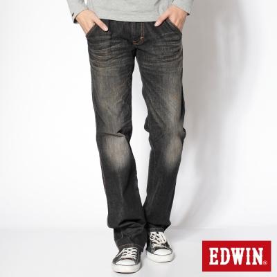 EDWIN503大尺碼B-T拉鍊釦絆中直筒牛仔褲-男款-灰色
