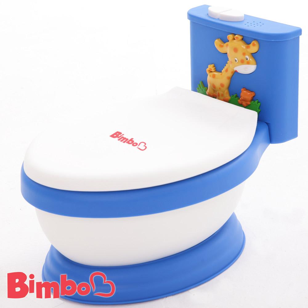 專利兒童音樂馬桶 藍色 台灣製造【BIMBO】