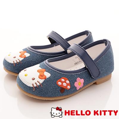 HelloKitty童鞋-電繡娃娃款 17513藍(中小童段)T