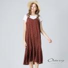 OUWEY歐薇 夏日碎花細帶兩件式洋裝(磚)