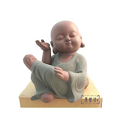 【原藝坊】紫砂陶瓷小沙彌茶寵 - 聽禪小和尚