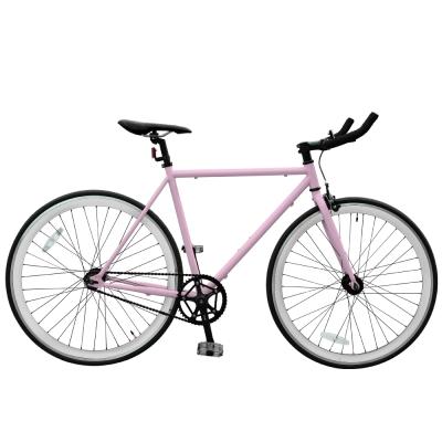 BIKEONE V2_EVO Fixed Gear單速車 英式時尚不敗經典款-粉紅色系