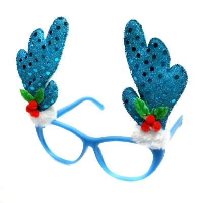 摩達客 聖誕派對造型眼鏡-冰雪藍鹿角