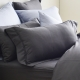 Cozy inn 簡單純色-鐵灰-200織精梳棉枕頭套-2入 product thumbnail 1
