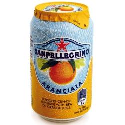S.Pellegrino 聖沛黎洛氣泡水果飲料-甜橙口味(330mlx6瓶)