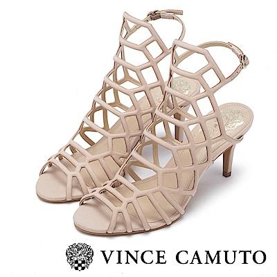 Vince Camuto 美型簍空幾何高跟涼鞋-米色