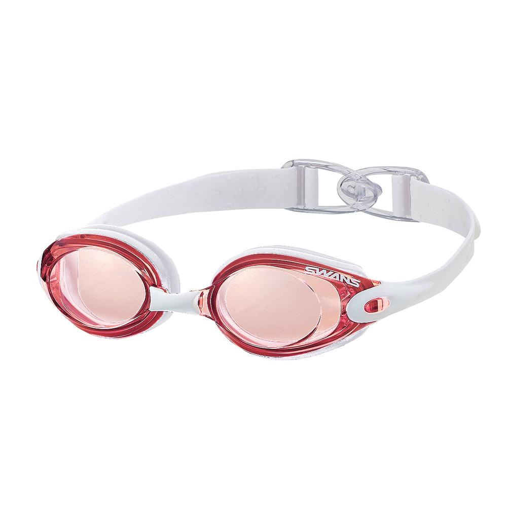 【SWANS 日本】專業光學柔軟舒適型泳鏡 ( 防霧/抗UV/矽膠 SWB-1 粉紅/白)